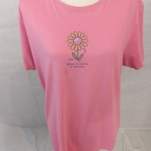 Life Is Good Tops - Life is Good T-shirt - Light Pink - Size Large